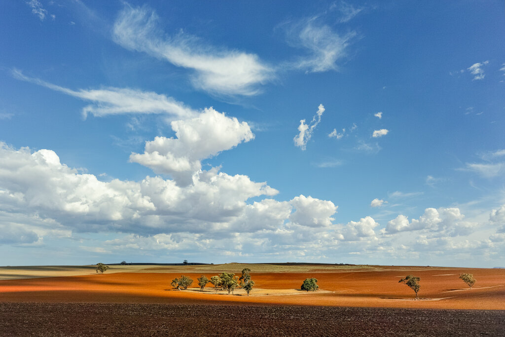 Red Earth Under A Blue Sky