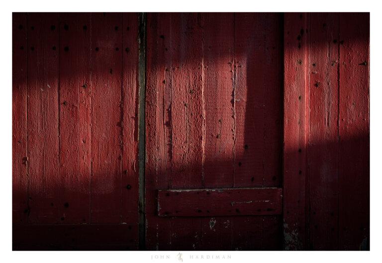 light on a red door, Werribee, Victoria
