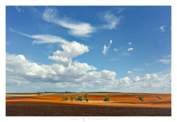 Blue on Red, Bacchus Marsh, Victoria